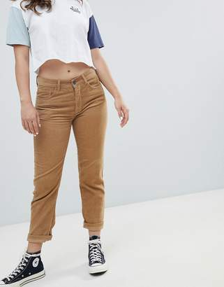 Pull&Bear cord mom jean in brown