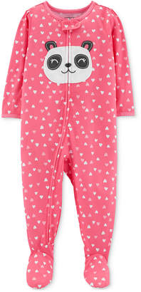 Carter's Carter Baby Girls Panda Footed Pajamas