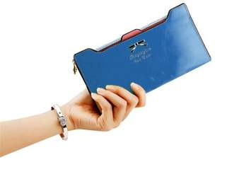 Hanyulore New Fashion Women Sweet Multi-Card Holder Long Wallet PU Leather Purse