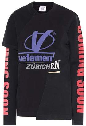 Vetements Printed cotton top