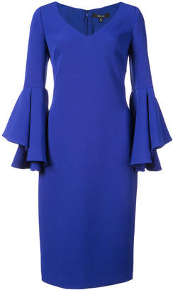 Badgley Mischka fitted midi dress