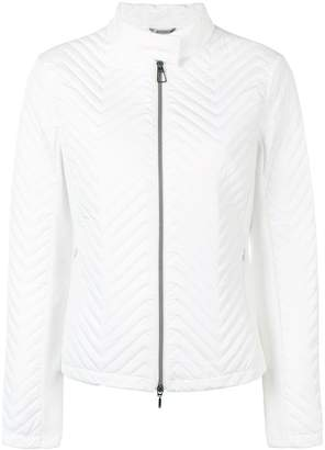 Geox chevron quilted jacket