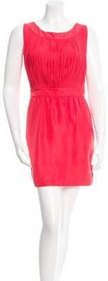 Loeffler Randall Silk Fringe-Accented Dress