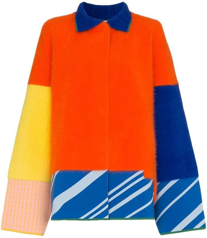 I Am Chen colour block wool-blend jacket