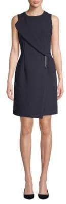 DKNY Foldover Sleeveless Dress