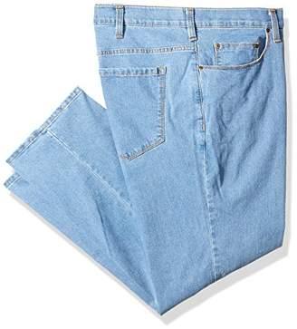 Savane Men's Big and Tall Active-Flex Light Stone-Wash Stretch-Denim Jean