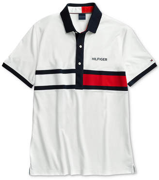 Tommy Hilfiger Adaptive Men Logo Graphic Polo with Magnetic Closures