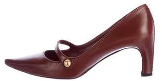 Marc Jacobs Leather Mary Jane Pumps