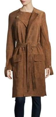 Helmut Lang Leather Trench Coat