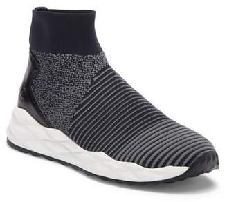 Ash Spot Stripe Stretch Geometric Sneaker