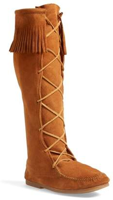 Minnetonka Knee High Moccasin Boot