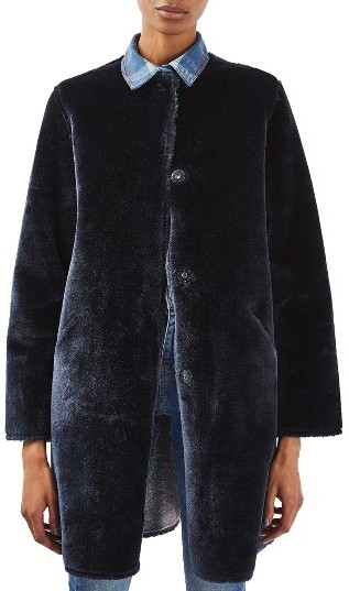 TopshopWomen's Topshop Bonded Faux Fur Coat