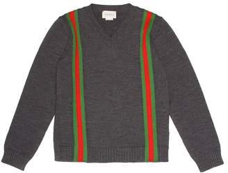 Gucci Kids Intarsia wool sweater