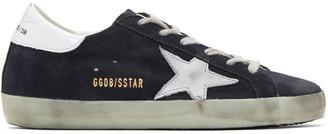Golden Goose Black Suede Superstar Sneakers $415 thestylecure.com