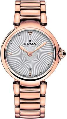 Edox Women's 57002 37RM AIR LaPassion Analog Display Swiss Quartz Rose Gold Watch