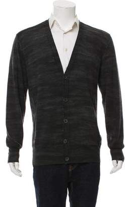 John Varvatos Wool Button-Up Cardigan
