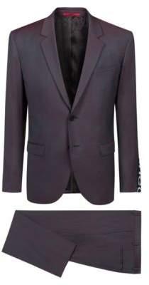 HUGO Boss Regular-fit suit in virgin wool logo-tape cuff 36R Patterned