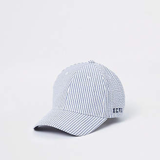 River Island Blue striped baseball cap