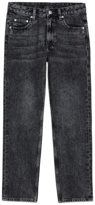 Arket Cropped Washed-Out Black Jeans
