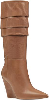 Nine West Vernese Tiered Knee High Wedge Boot