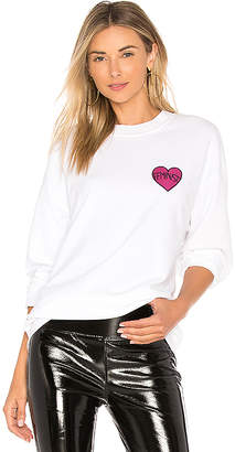 Private Party Feminist Heart Patch Crewneck Sweatshirt