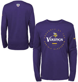 Nike Minnesota Vikings Prop Of Long Sleeve T-Shirt, Big Boys (8-20)
