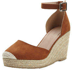 Very Polly Two Part Espadrille Wedges In Tan Size UK 8