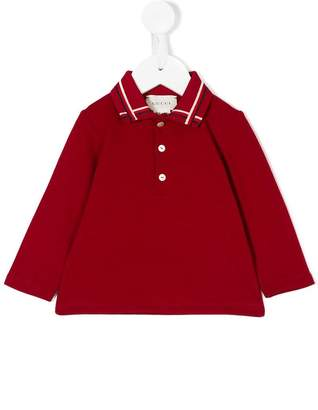 Gucci Kids polo shirt with Web