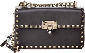 Valentino Rockstud Sliding Chain Leather Shoulder Bag