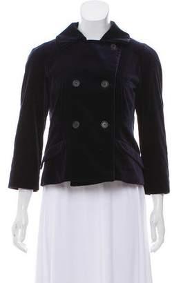 Miu Miu Double-Breasted Velvet Jacket