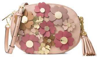 MICHAEL Michael Kors Michael Kors Floral Leather Crossbody Bag