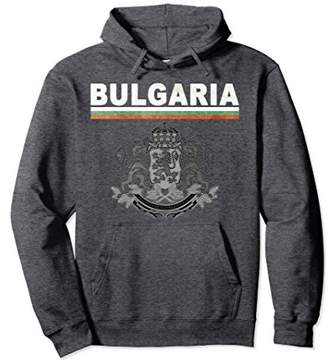 Bulgaria National Pride Flag and Crest Pullover Hoodie