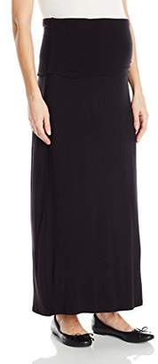 Three Seasons Maternity Women's Maternity Solid Long Maxi Skirt,XL