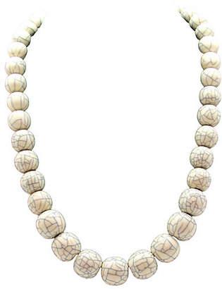 One Kings Lane Vintage Graduated Crackle Bead Design Necklace