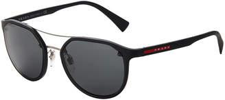 Prada Sport SPS 55S Black Round Sunglasses