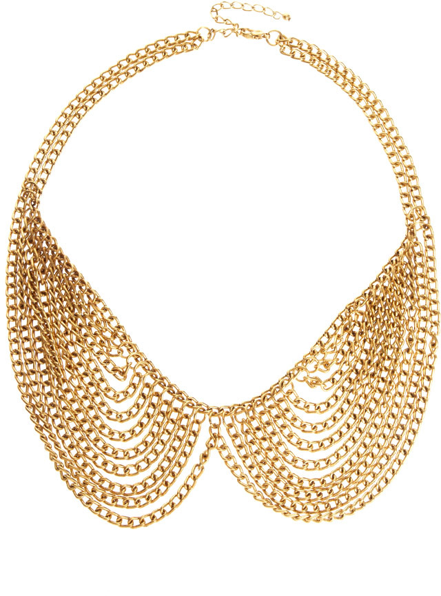 Asos Multi Chain Rounded Collar Necklace