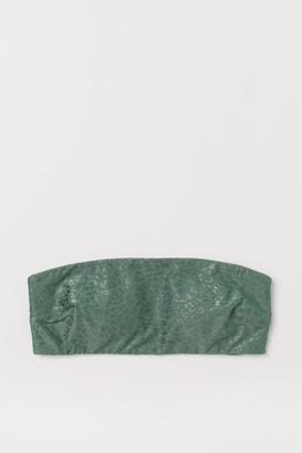 H&M Padded Bandeau Bikini Top - Green