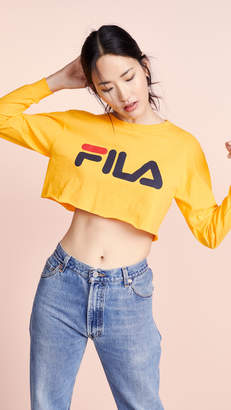 Fila Colette Long Sleeve Cropped Tee