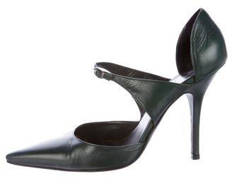 Balenciaga Balenciaga Leather Pointed-Toe Pumps