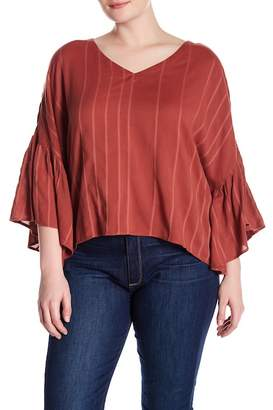 Susina Flutter Sleeve Blouse (Plus Size)
