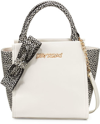 Betsey Johnson Bug A Boo Spotted Tote Bag, Cream $95 thestylecure.com