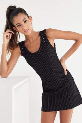 Urban Outfitters Kali Pinstripe Buckle-Strap Mini Dress
