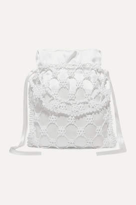 Sophie Bille Brahe Cecilie Bahnsen Nori Woven Silicone And Silk Tote - White