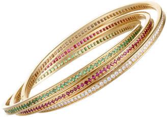Cartier Heritage  18K Diamond & Gemstone Bangle