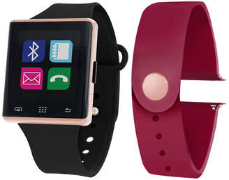 ITOUCH Itouch Air Interchangeable Band Set Black / Maroon Unisex Multicolor Smart Watch-Jcp2726rg724-Bme