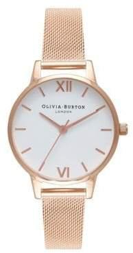 Olivia Burton Rose Goldtone Mesh Bracelet Watch