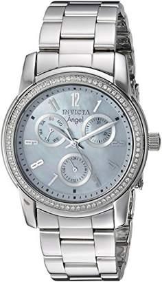 Invicta Women's 'Elite Diamond' Quartz Stainless Steel Casual Watch