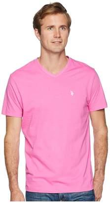 U.S. Polo Assn. Short Sleeve Solid V-Neck T-Shirt Men's Short Sleeve Pullover