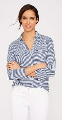 J.Mclaughlin Brynn Linen Knit Shirt in Stripe