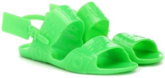 Off-White Off White Zip Tie Jelly sandals